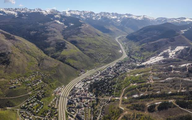 Vail from the air shows how human development butts up to wilderness areas in the Gore Range. Outdoor recreation generates $28 billion each year in consumer spending in Colorado. The Continental Divide Recreation, Wilderness and Camp Hale Legacy Act, introduced in the U.S. Senate in January, would add 42,049 acres of wilderness area to Eagle County and another 56,572 acres in Summit County.
