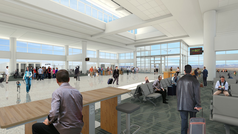 photo - rendering of new gate at DIA