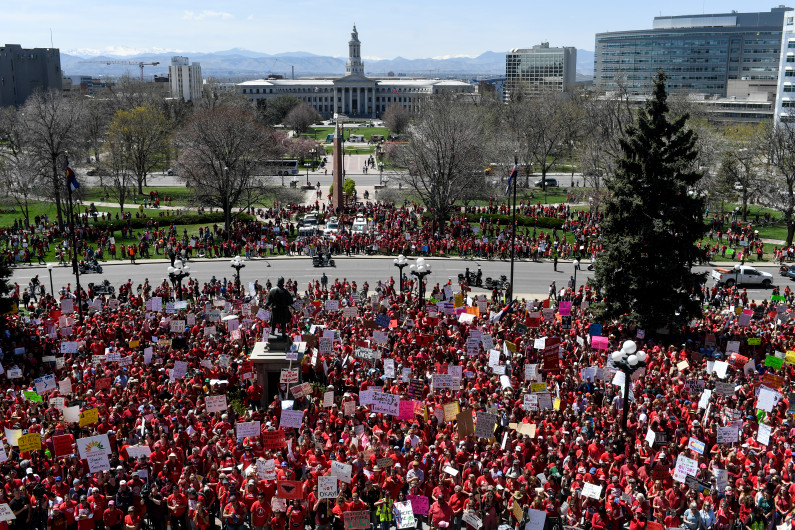 photo -COlorado Legislature, Teacher Rally