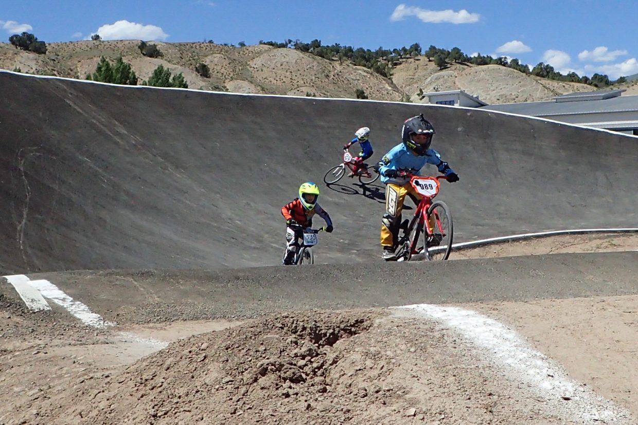 Kids participate in the BMX events during the GoPro Mountain Games on Friday, June 8, in Eagle.