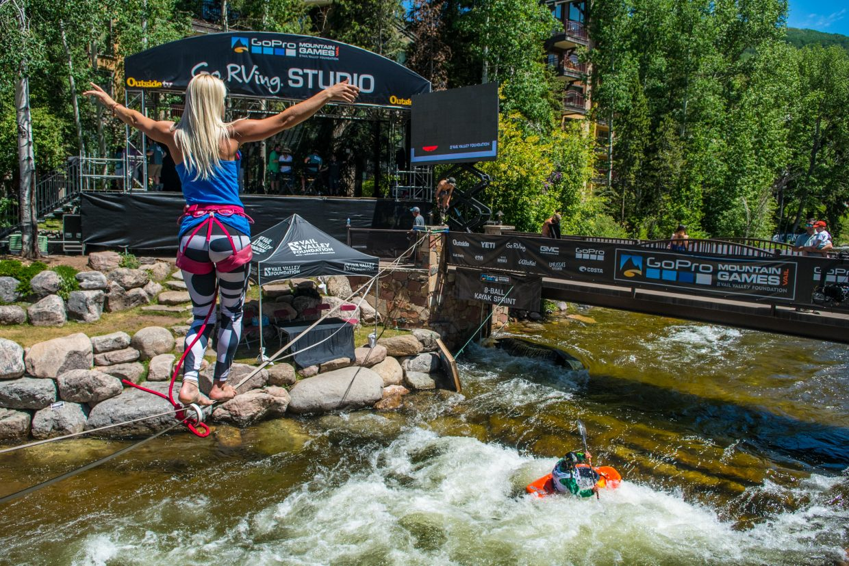Slackline Industries is the main slacklining sponsor for the Gopro Mountain Games every year.