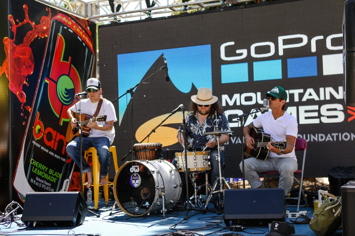 Scotty Stoughton and Friends play at Checkpoint Charlies during the GoPro Mountain Games on Friday, June 8, in Vail.