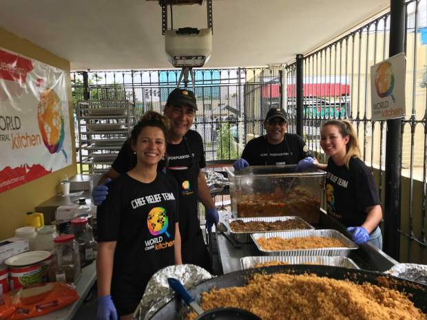 Members of Larkpur Events & Dining worked in Puerto Rico with World Central Kitchen, an organization that creates smart solutions to hunger and poverty through its chef network.