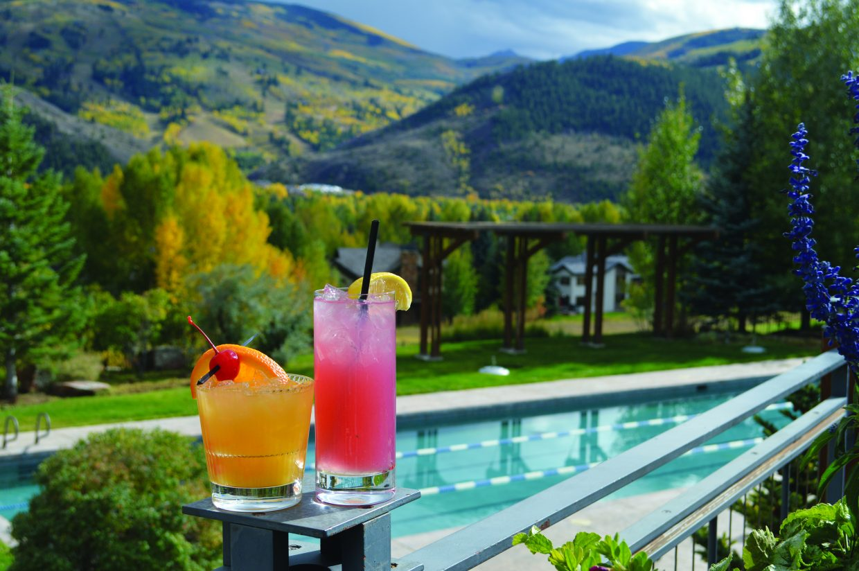 photo - cocktails at Harvest at the Sonnenalp Club