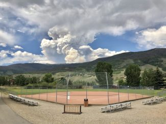 Photo - Sugarloaf Fire, Silverthorne seen from Trent Park