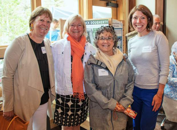 Meg Segerberg, Beth Rosen, Colleen Gray and new Development Director for the Gardens, Melissa Ebone.