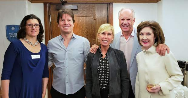 Jacqueline Taylor, director of artistic planning; Joshua Bell; Ava-Marie; Ray Berry; and Anne-Marie McDermott, artistic director of Bravo! Vail.