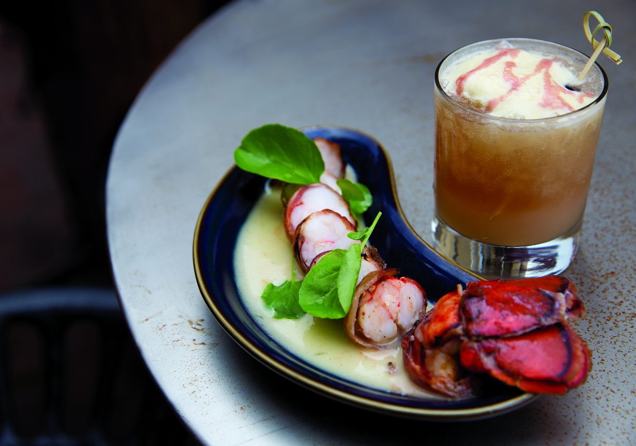 The Crimpster from hooked means bacon wrapped seafood.