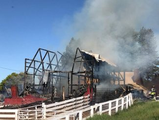 photo - Routt County Barn fire