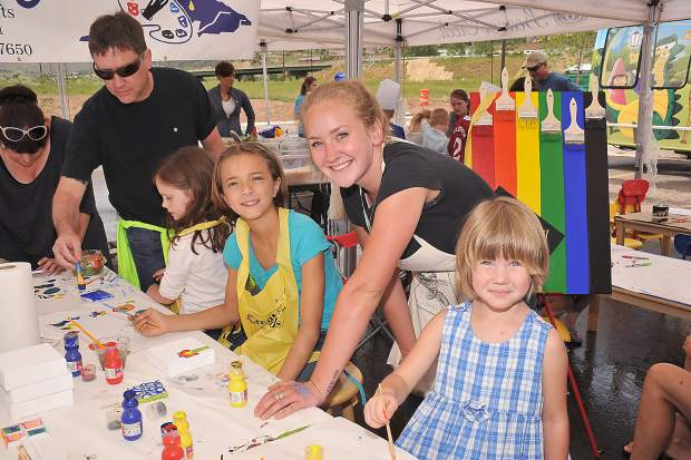 Children will have a chance to take part in free activities at Art on the Rockies in Edwards.