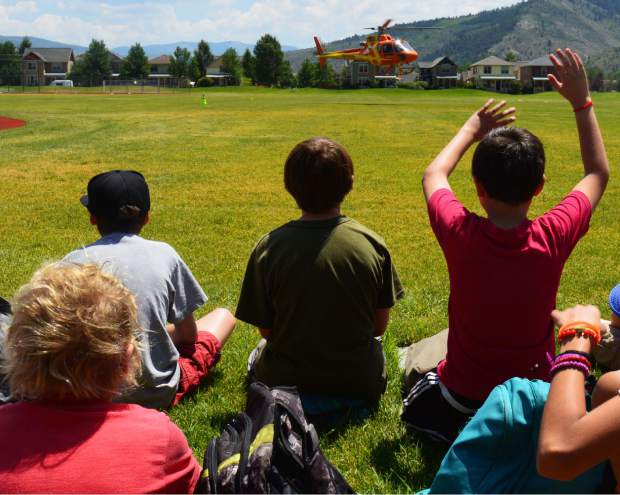 A Flight for Life helicopter a like a flying emergency room. Once made an appearance at Wednesday's Camp 911 at Freedom Park.