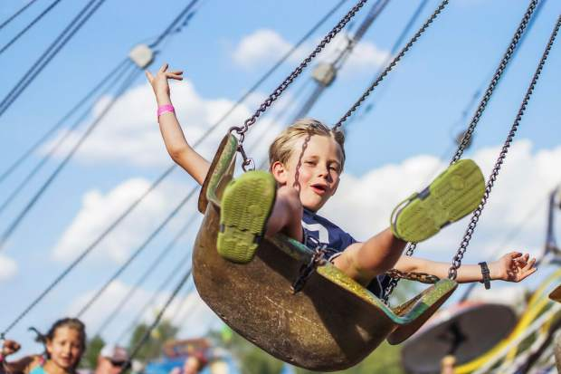 Along with fair competition and rodeo performances, Eagle County Fair & Rodeo attendees can enjoy rides and vendors at the event grounds.
