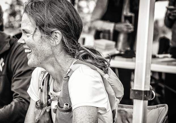 Longtime Summit County local Hannah Taylor died due to an accident while mountain running in the Gore Range on Saturday. The Summit Nordic Ski Coach and Summit Huts Association managing director is pictured here all smiles after taking first-place overall for women at the first-annual High Lonesome 100 Miler ultra-endurance race in Salida on July 28, 2017. Taylor finished in 29 hours and 59 minutes — nearly two hours ahead of the next-fastest woman.