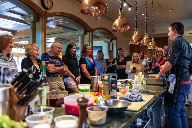 Attendees are encouraged to ask questions and interact with the chefs during the In The Kitchen series at Beaver Creek.