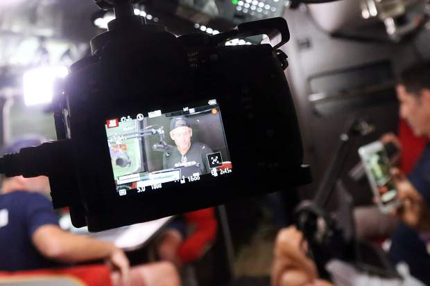 Multiple cameras are used to live record Lance Armstrong's Tour de France podcast