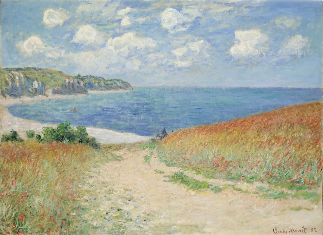 photo - Claude Monet - Road in teh wheat Fields at Pourville