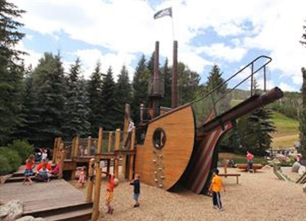 Pirate Ship Park is steps away from Gondola One in Vail Village.