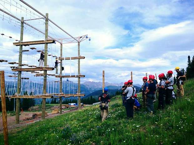 Adventure Ridge atop Vail Mountain features a ropes course, zipline, alpine coaster and more.