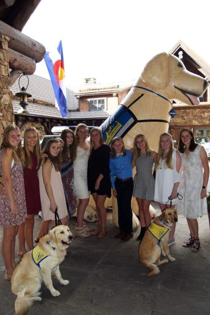 The Vail Valley junior volunteer chapter of Canine Companions for Independence helped support the cause at the Puttin' on the Ritz Gala on Aug. 12.