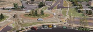 Edwards motorists, ECO buses cope with roundabout construction traffic