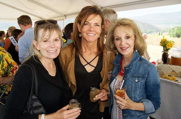 Sarah Charles, Tracy Tutag and Betty Grubbs attended the 2018 Garden to Glass and Farm to Fork events in support of the Eagle Valley Land Trust.