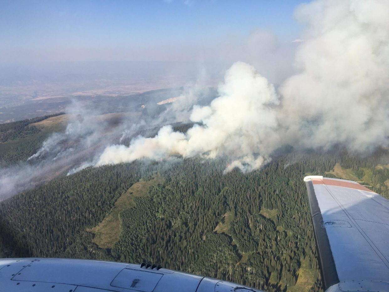 photo - above Cache Creek Fire southwest of rifle