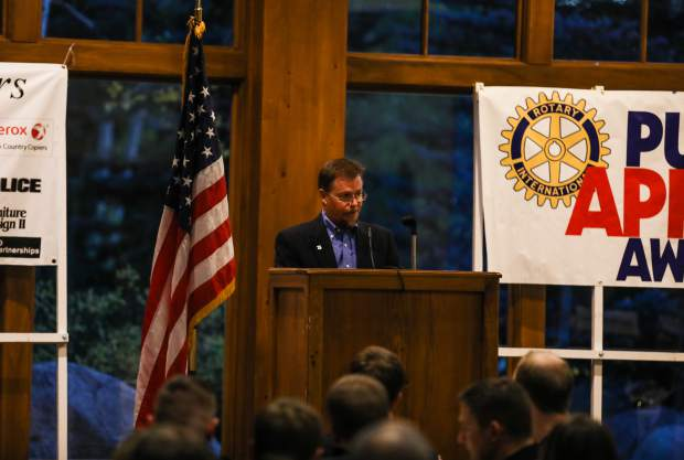 Ross Wilmore, retired wildland fire specialist with the Greater Eagle Fire Protection District, was the honorary speaker at the annual first responders dinner Tuesday, Sept. 11, in Vail. Wilmore worked for the U.S. Forest Service in many fires and was recognized at the awards dinner last year.