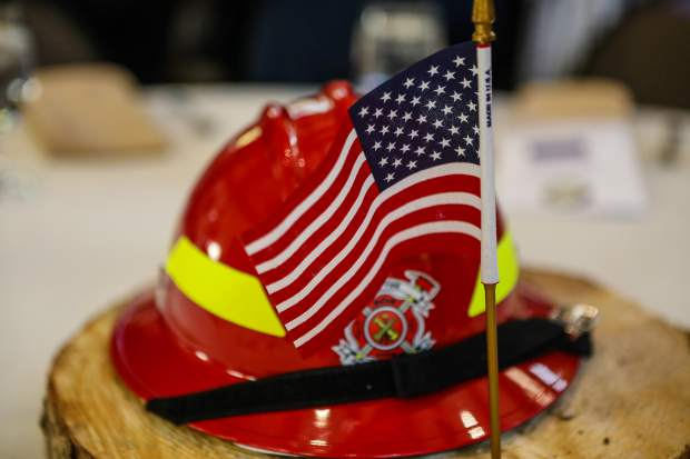 First responders were recognized during the annual dinner on the anniversary of the attacks of 9/11 Tuesday, Sept. 11, in Vail.