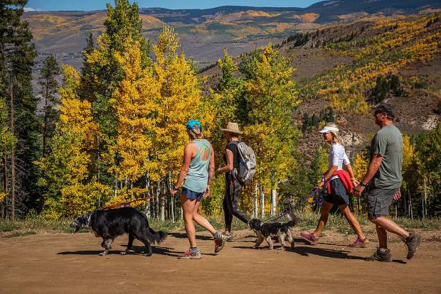 The Sunday, Sept. 16, Hike, Wine and Dine event featured a hike through the changing colors of fall and benefited Jack's Place, a cancer house in the Vail Valley, and the Shaw Cancer Center.
