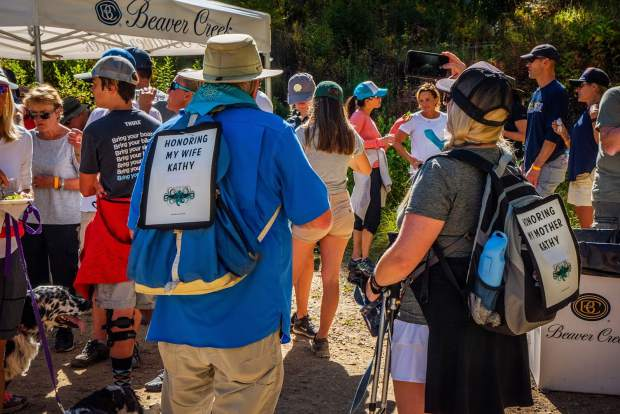 Many of the Hike, Wine and Dine events were at the event to honor friends and family on Sunday, Sept. 16.