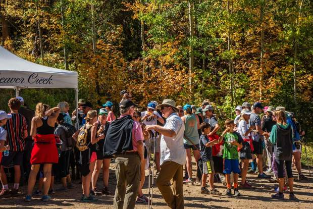 Food tents along the Hike, Wine and Dine event on Beaver Creek Mountain featured food from many of the Vail Valley's finest restaurants and included desserts and drinks to benefit the Shaw Cancer Center and Jack's Place. The hike was a moderate 5 mile loop.