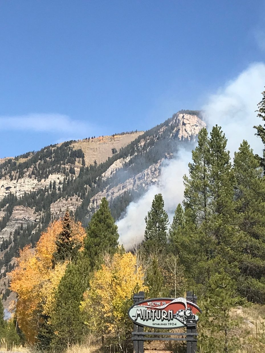 Smoke billows from the Minturn shooting range on Saturday, Sept. 29.
