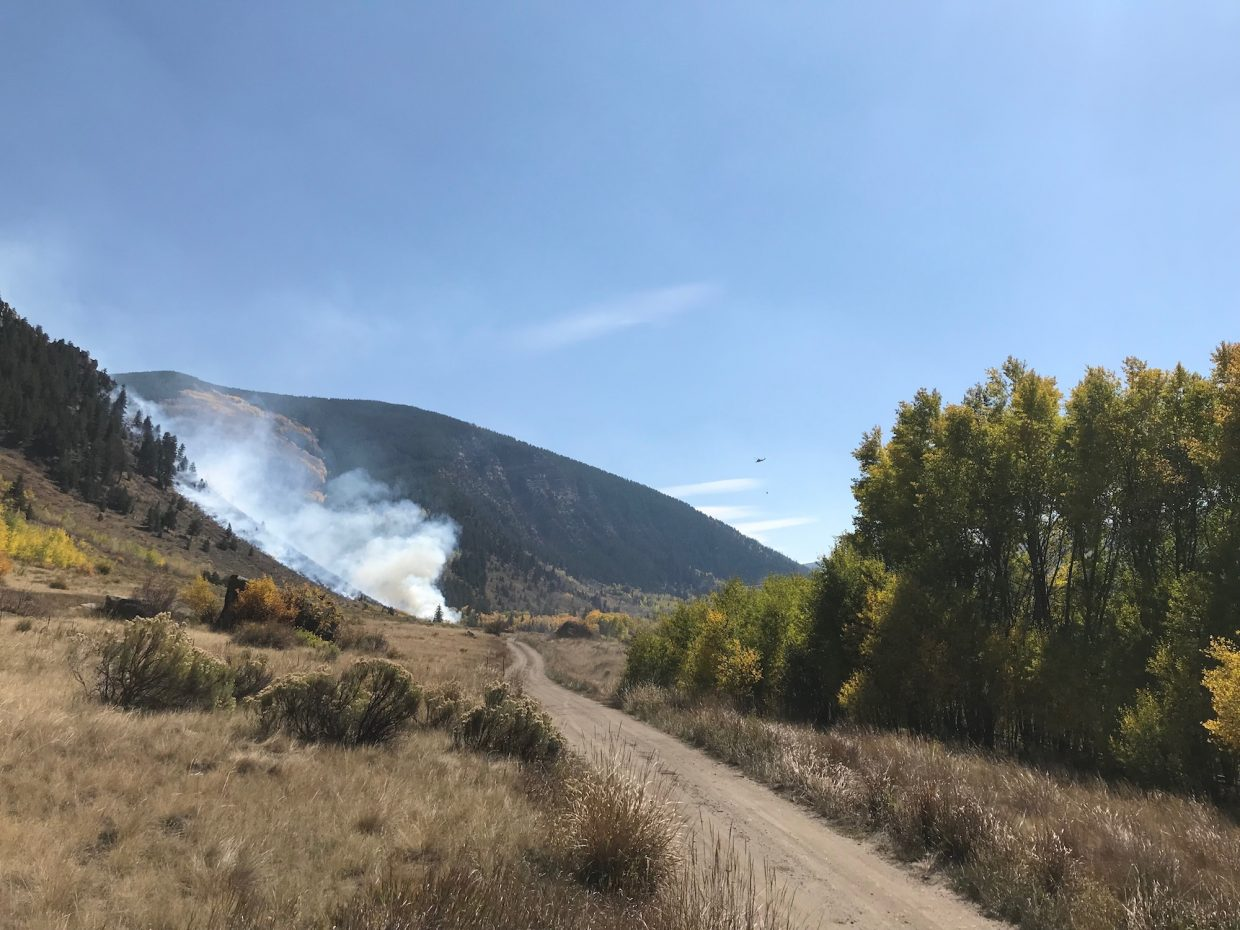 Crews from the Eagle River Fire Protection District, Greater Eagle Fire Protection District, Vail Fire & Emergency Services, Gypsum Fire Protection District, U.S. Forest Service and Eagle County Sheriff's Office were on scene by 2 p.m. Saturday, Sept. 29, when a fire sparked at the Minturn shooting range.