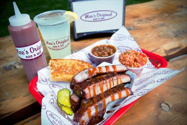 Moe's Original Bar B Que in Lionshead Village in Vail is offering a family meal for $20.18 that feeds three to four people.