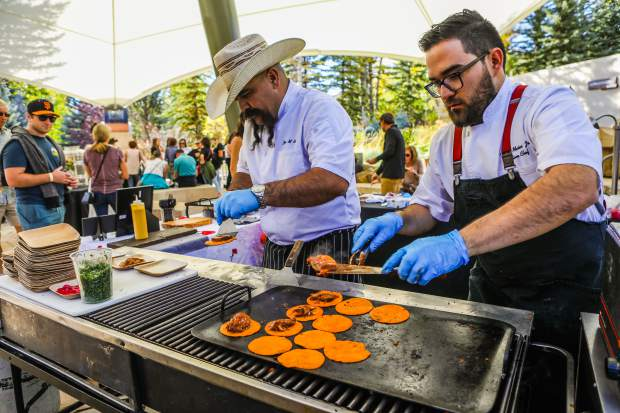 Maya chefs prepare street tacos during The Fall Wine & Food Classic Grand Tasting Saturday, Sept. 22, in Vail. Wine and food from the Southern Hemisphere was the theme for the fall food and wine event.