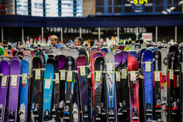 Skis are the main attraction at the annual Ski and Snowboard Swap Friday, Oct. 26, in Vail. A portion of the proceeds benefits SSCV.