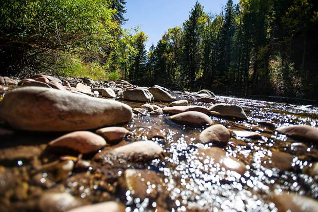 The Roaring Fork River near Henry Stein Park in Aspen on Thursday afternoon.