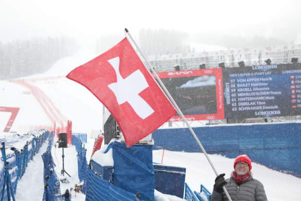 Nearly a foot of snow fell on Saturday, Dec. 1, but it didn't deter the die-hard fans from coming out to watch the Xfinity Birds of Prey Audi FIS Ski World Cup super-G race. The course was shortened due to the falling snow.