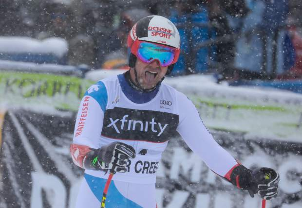 Beat Feuz, of Switzerland, took 11th in the Xfinity Birds of Prey World Cup super-G on Saturday, Dec. 1. On Friday, Feuz placed first in the downhill.