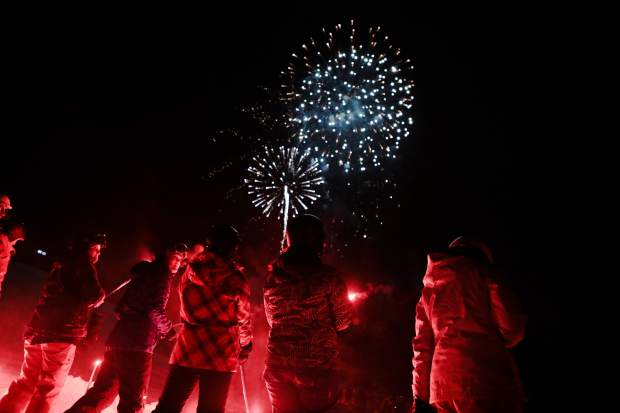 Vail rings in the new year with a torch-light ski down and fireworks Monday, Dec. 31, in Vail.