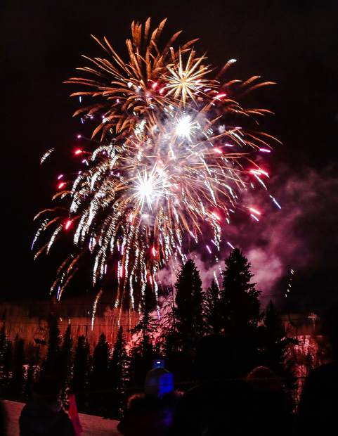 Fireworks light up the night sky as 2019 is rung in, a few hours early, during Vail's Holiday celebration Monday, Dec. 31, in Vail. A torch-light ski down preluded the fireworks.