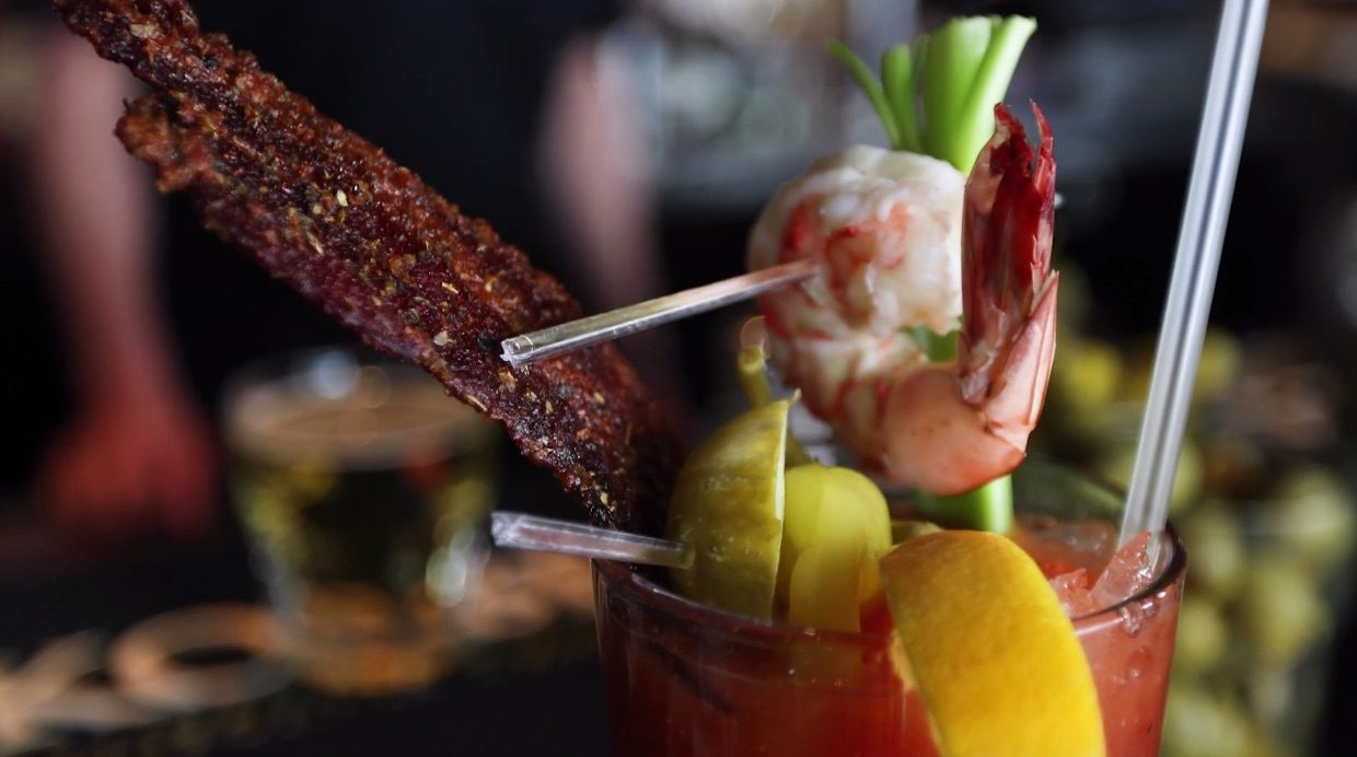 The Ultimate Bloody Mary adds a little surf and turf to the classic cocktail