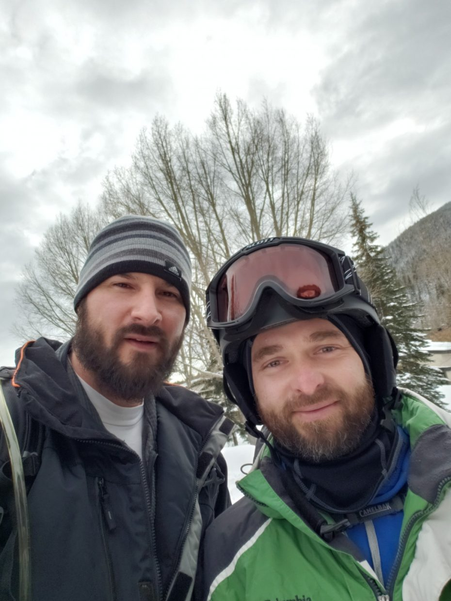Michael Laush, left, was in Vail with his friend Slavko Kucinic celebrating their 40th birthdays.