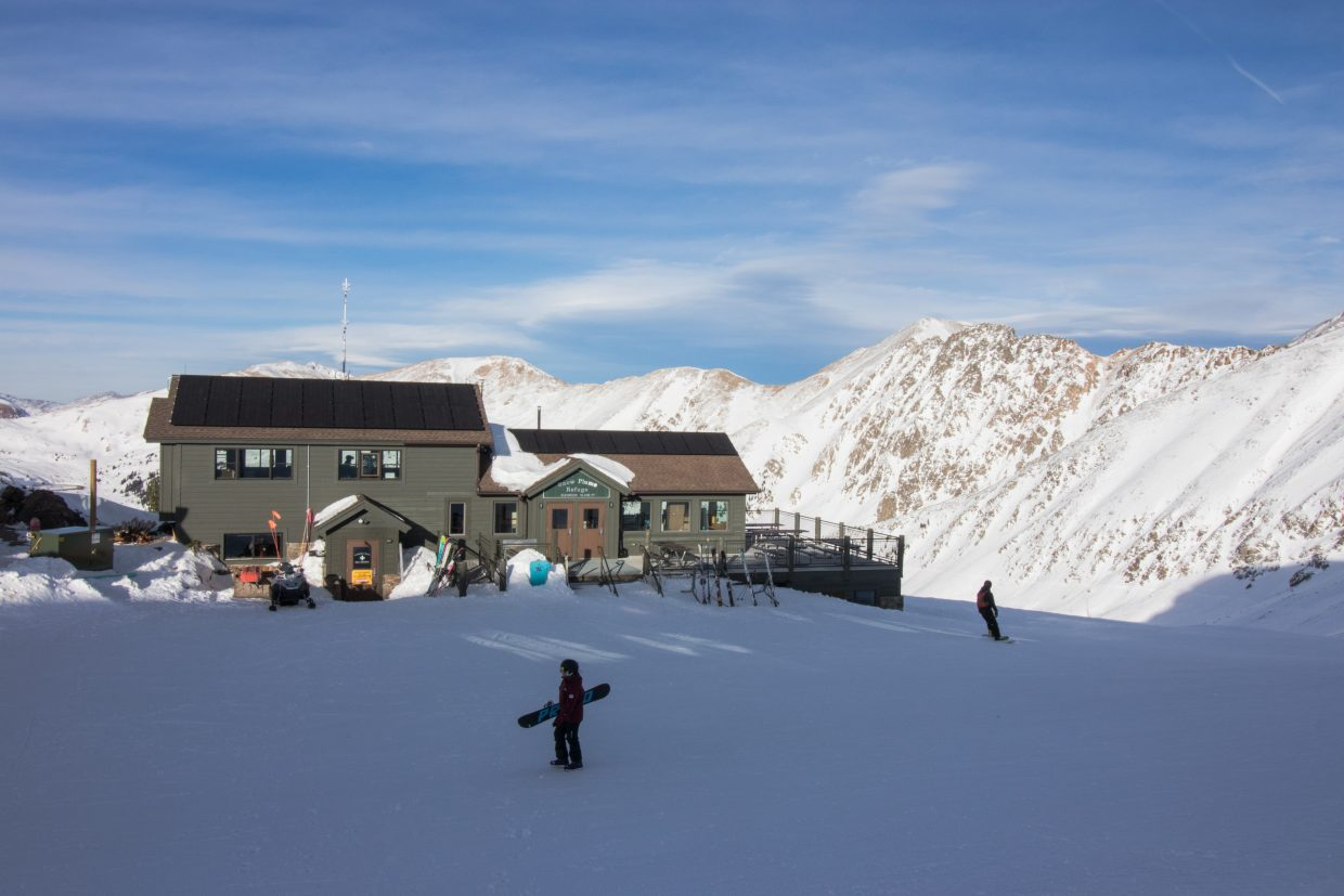 Il Rifugio at Snow Plume Refuge sits at 12,500 feet with 360-degree views of A-Basin's terrain and the surrounding mountain ranges, and is only accessible by chairlifts.