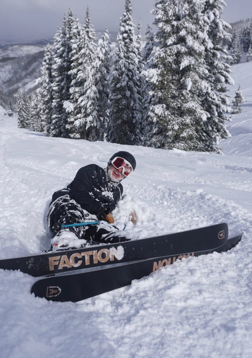 Borg-Massanari tried to ski every free minute, even during his lunch breaks at the Patagonia store in Vail.
