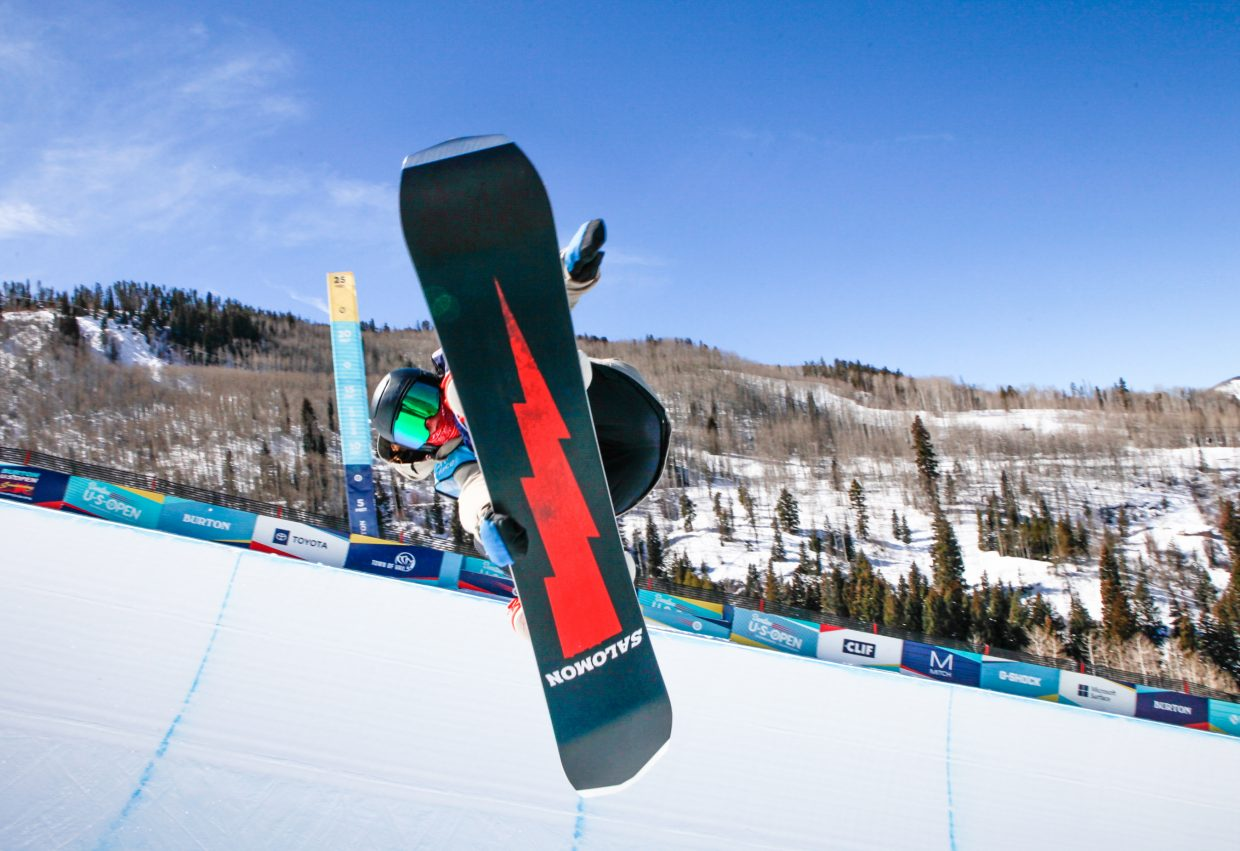 Kade Martin, 13, of Edwards competes in the Burton US Open Snowboarding Championships Junior Jam Tuesday, Feb. 26, in Vail. Martin took sixth, but threw down a solid second run to boost him in the standings.