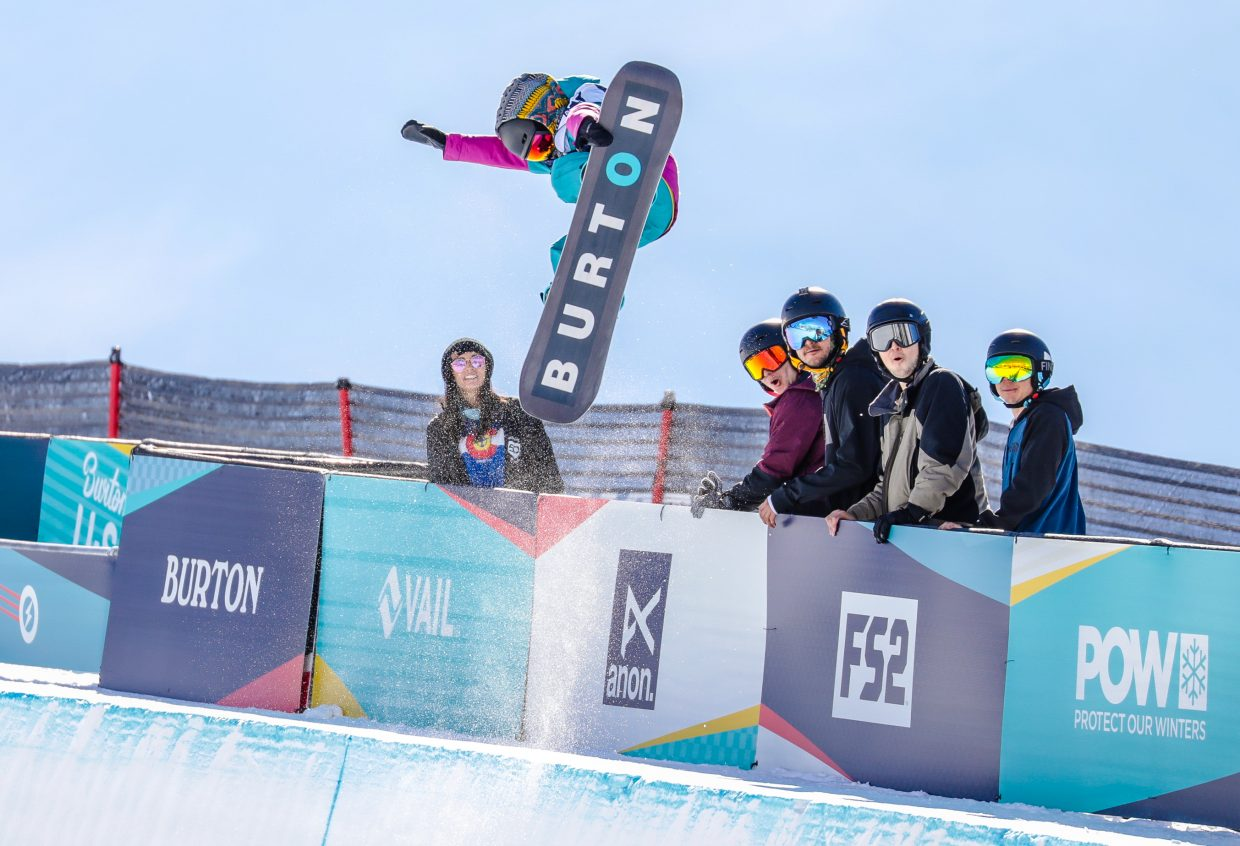 Haku Shimasaki, 9, of Japan throws down a huge run during the Burton US Open Snowboarding Championships Tuesday, Feb. 26, in Vail. Shimasaki was the youngest competitor, and also had a brother in the competition who placed second.