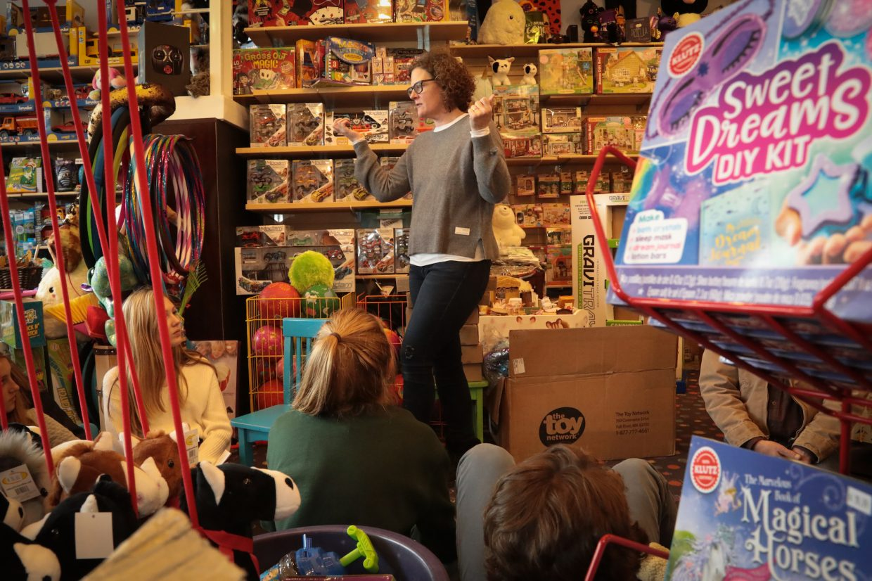 VMS ninth graders took a field trip to Wishes Toy Store in Avon where owner and VMS parent Marti Hurd provided the students with an inside perspective on the toy business.