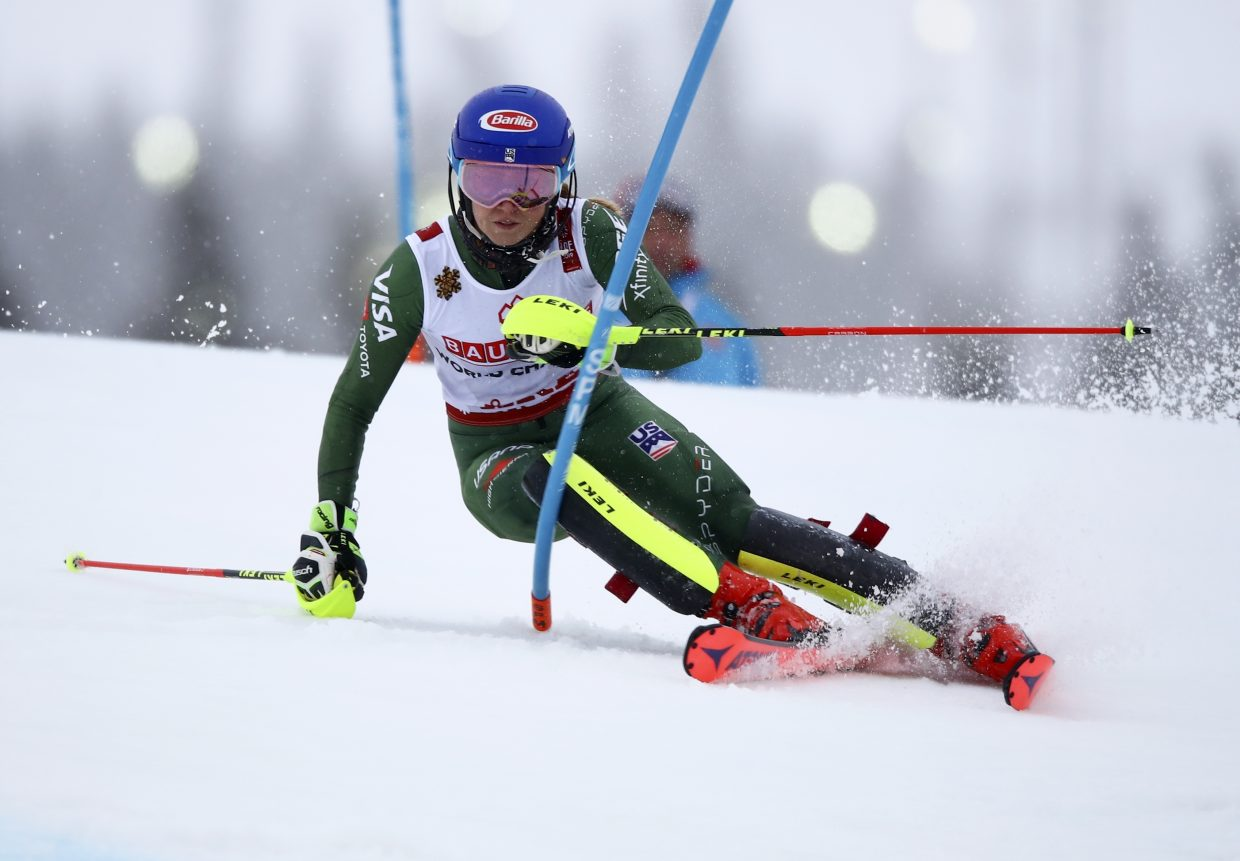 Battling a cold and a strong field, Mikaela Shiffrin overcomes a lot on her way to her fourth consecutive FIS Alpine World Ski Championships slalom title on Saturday in Are, Sweden.