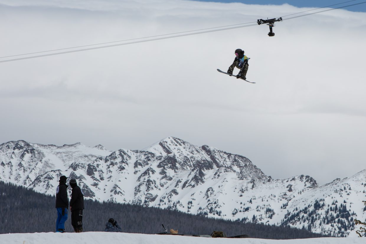 Ruki Tobita goes big during the men's Slopestyle Semi-Finals at the Burton US Open Snowboarding Championships on Wednesday, Feb. 27, in Vail. Tobita qualified for Friday's finals in second position.